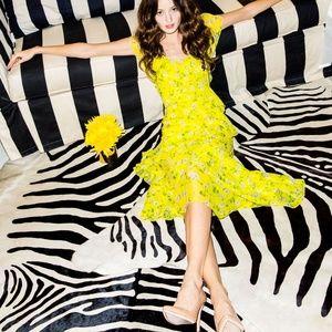 Alice + Olivia Moore Flutter Sleeve Layered Dress